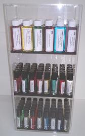 New* Tall Vertical Display Case Oils Included 98 Pcs.